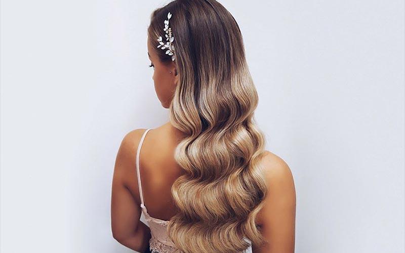 مدل موی باز ساده برای عروسی