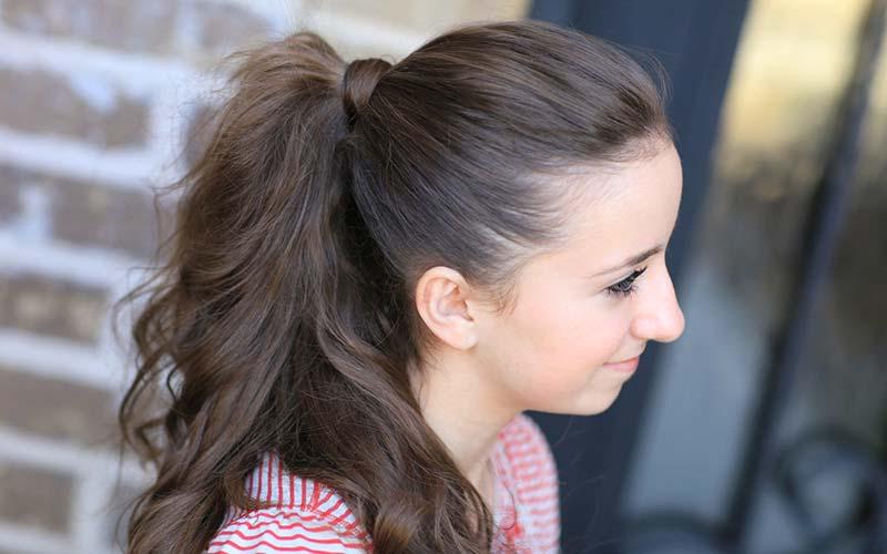 روش ساده و زیبای موی دم اسبی