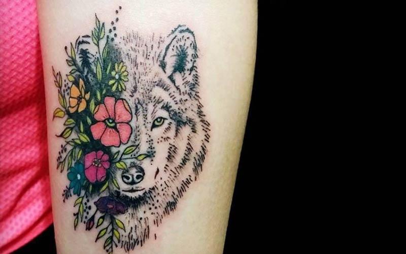 خالکوبی گرگ و گل