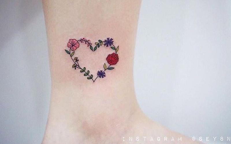 تاتو قلب و گل