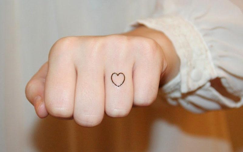 طرح تاتو قلب کوچک