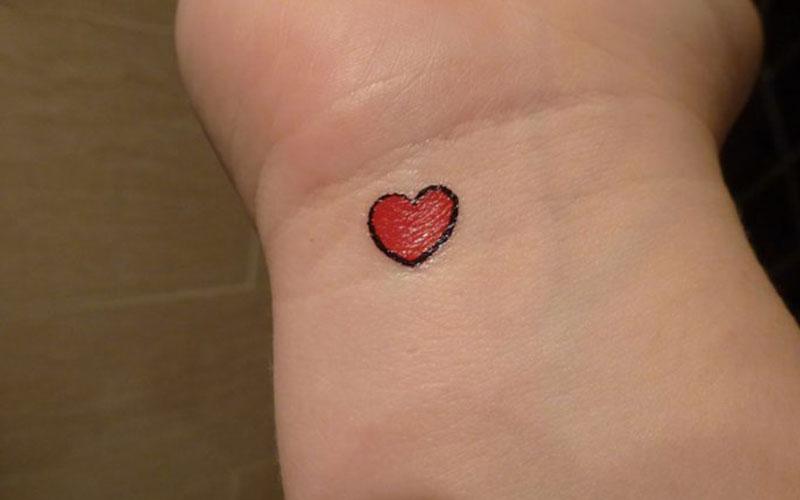 طرح تاتو قلب کوچیک