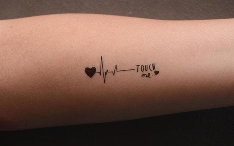 تاتو قلب و ضربان قلب
