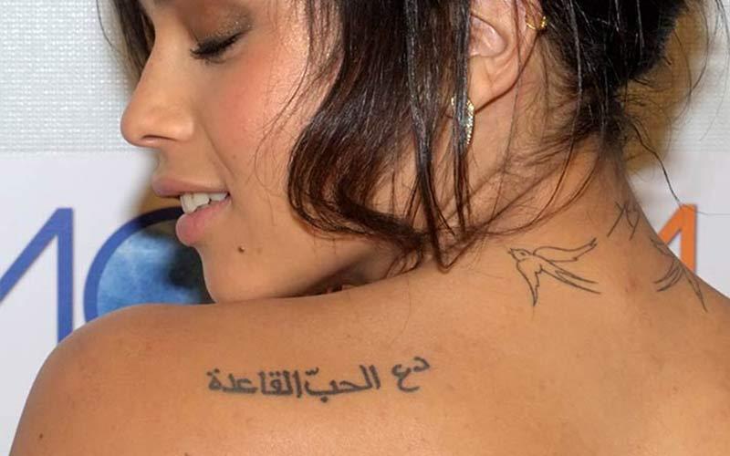 تاتو عربی روی کتف