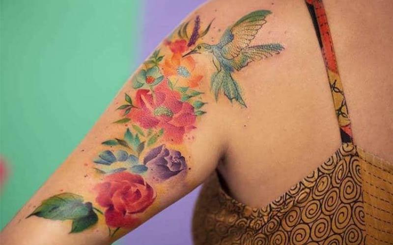 خالکوبی روی بازو دخترانه