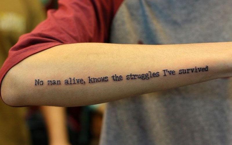 طرح تاتو نوشته مردانه