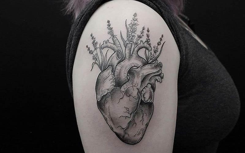 تاتو شکل قلب جدید