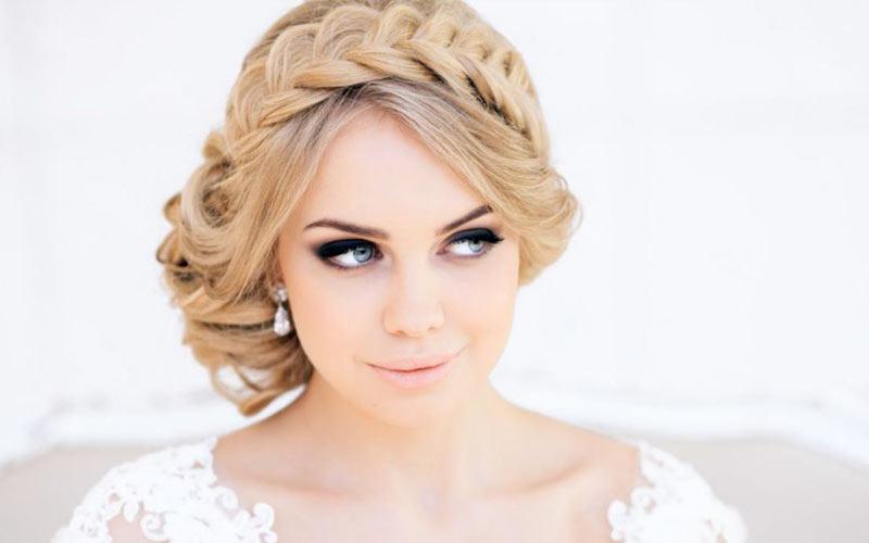 مدل موی عروس با تل بافت