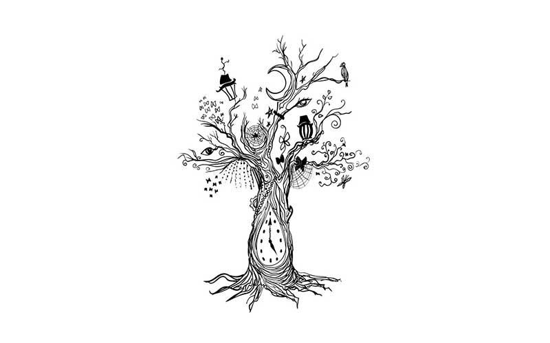 طرح تاتو خام درخت