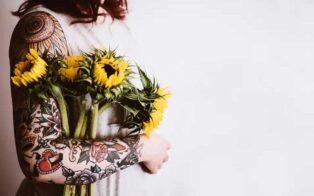 طرح تاتو گل