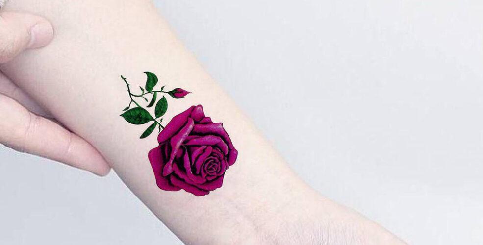 طرح تاتو گل رز