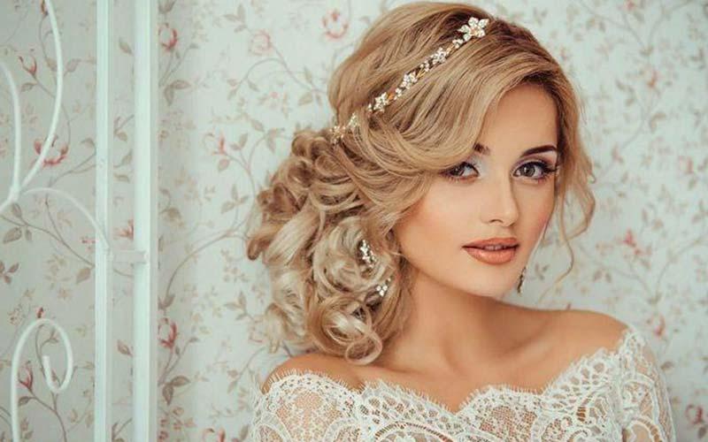مدل موی عروس یک طرفه