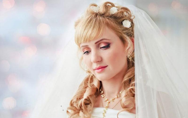 شینیون عروس با چتری