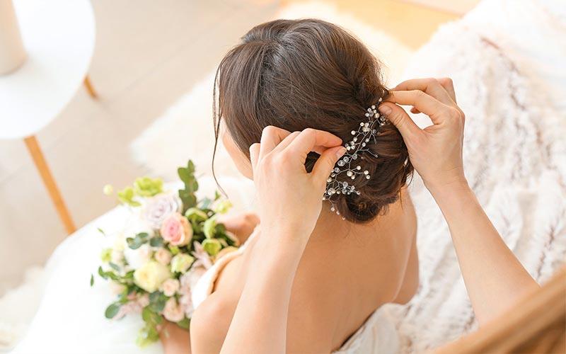 مدل شینیون عروس اروپایی
