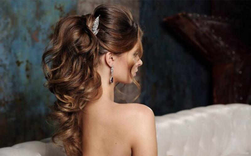 مدل موی عروس باز پشت سر