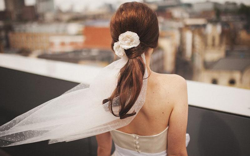 شینیون عروس مدل دم اسبی