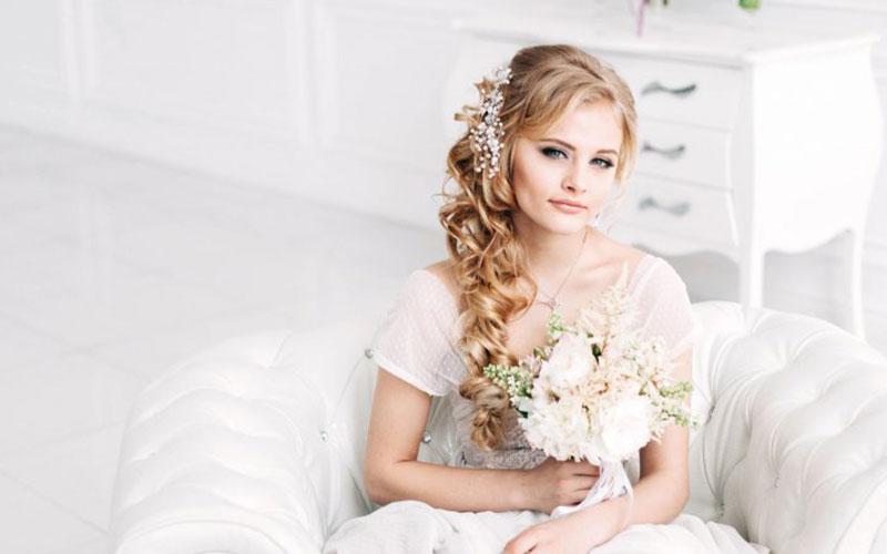 مدل موی عروس باز یک طرفه