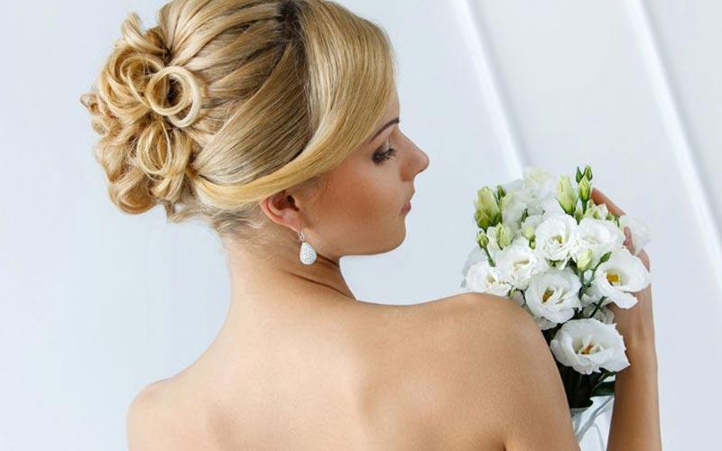 مدل شینیون عروس بالای سر