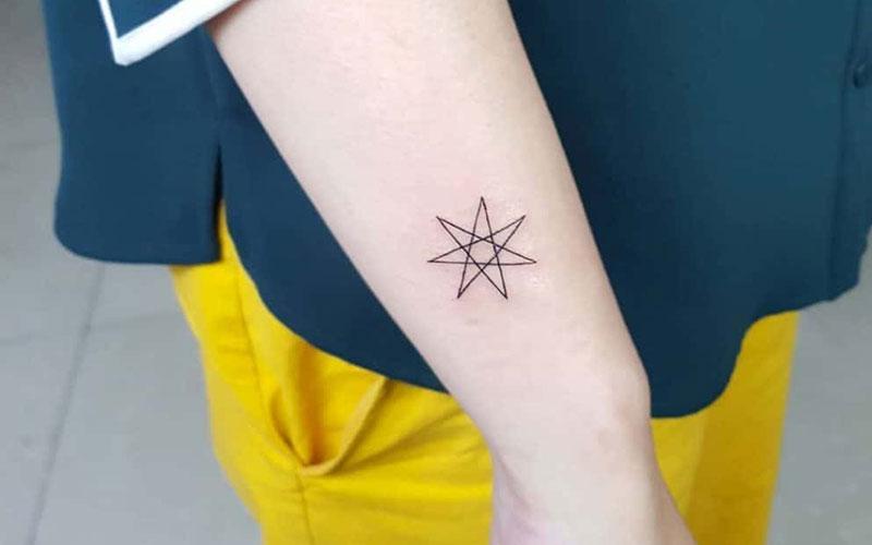 طرح تاتو ستاره ساده و خاص
