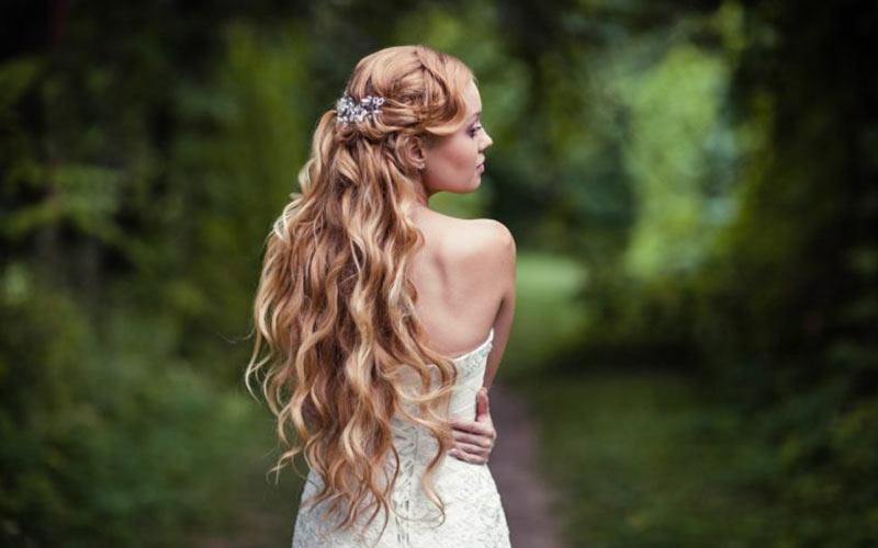 مدل دادن موی باز برای جشن عروسی