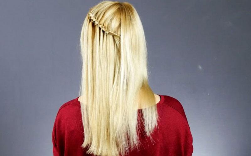 بافت آبشاری برای موی باز