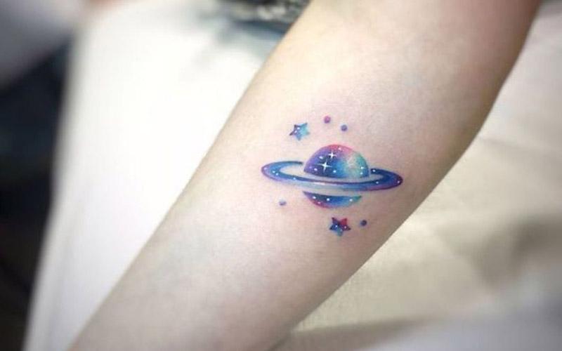 طرح تاتو ستاره و سیاره