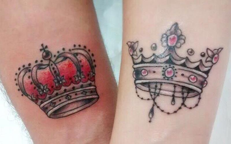 تاتو تاج شاه و ملکه
