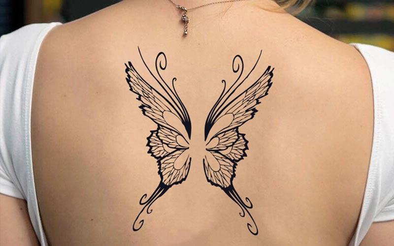 طرح تاتو پروانه بزرگ