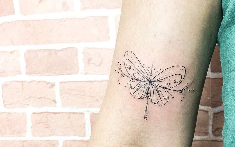 تاتو ظریف زنانه روی بازو