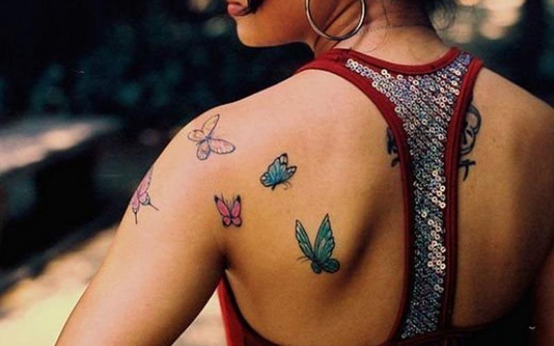 بهترین طرح های تاتو پروانه