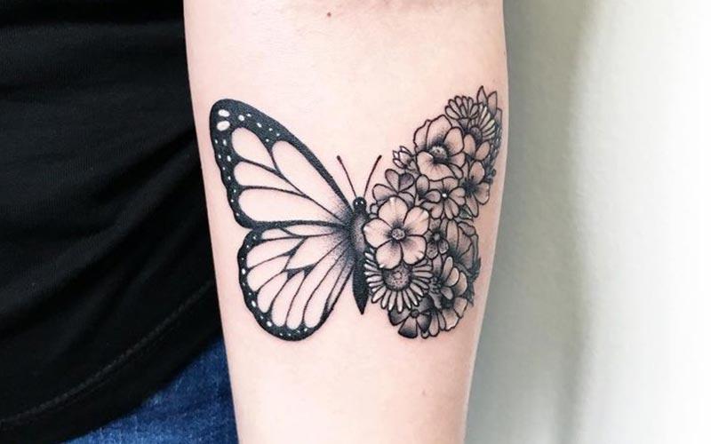 طرح تاتو پروانه خاص