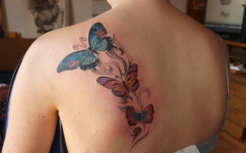 سه طرح تاتو پروانه
