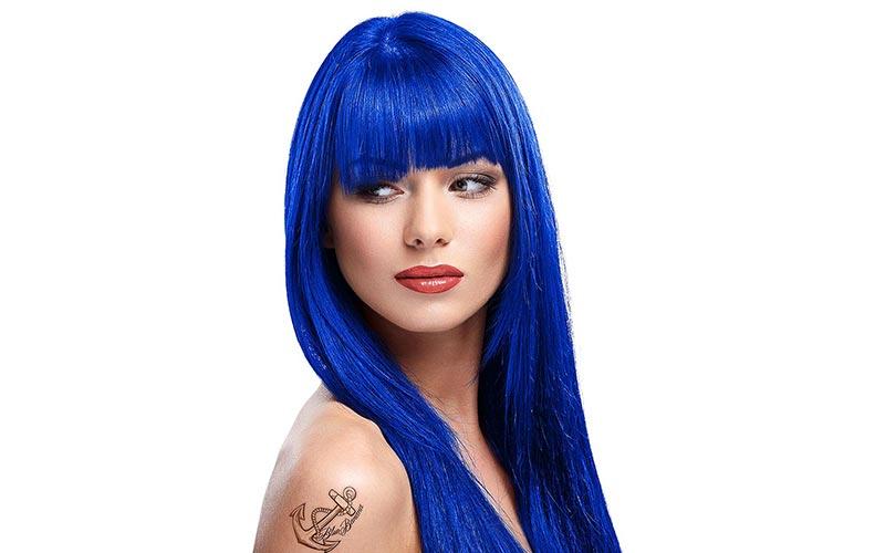 فرمول رنگ موی آبی کاربنی