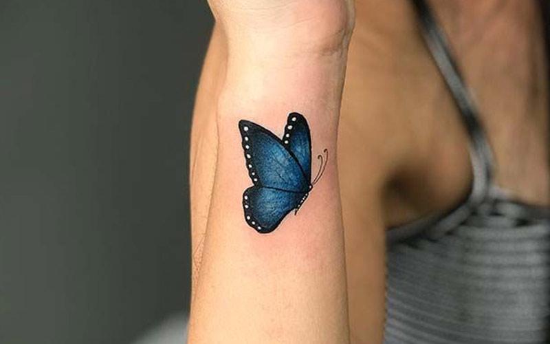 تاتو پروانه روی مچ دست