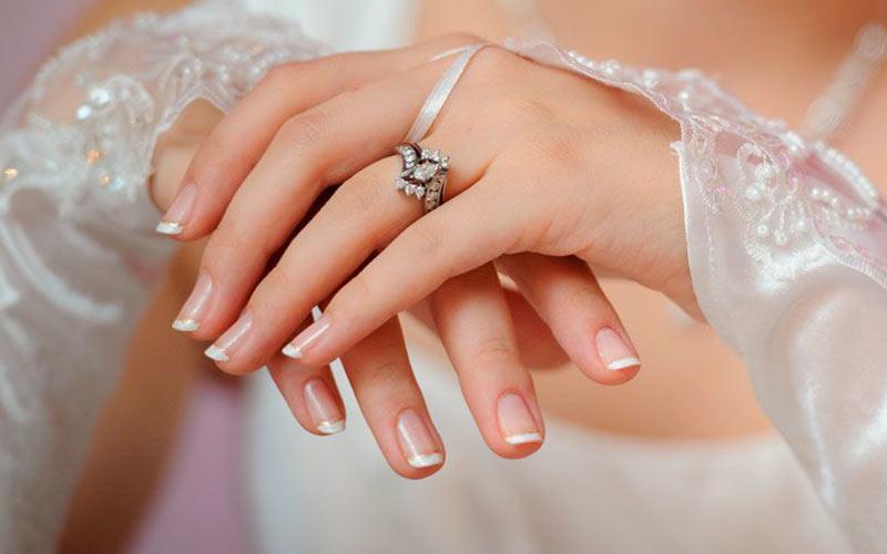 ناخن عروس ساده