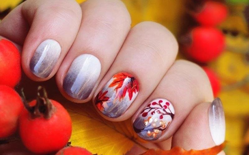 مدل ناخن پاییزی