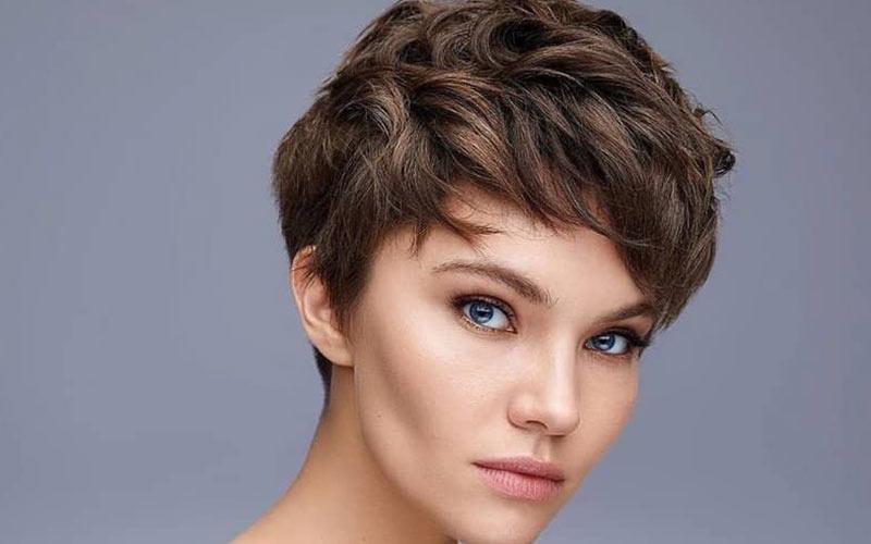 ایده مدل موی کوتاه برای صورت کشیده