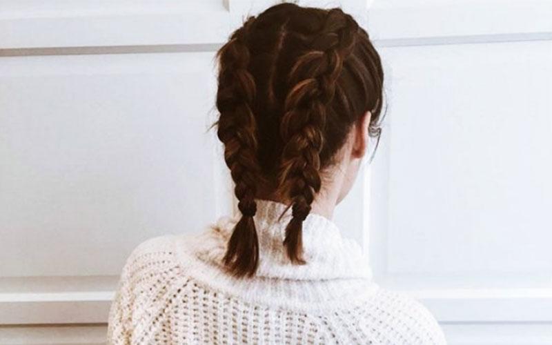 شینیون دخترانه برای موهای کوتاه
