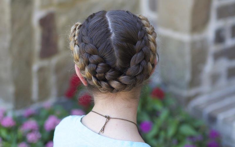 مدل مو دخترانه با بافت ساده
