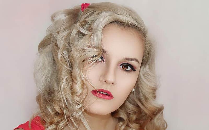 مدل مو دخترانه فرفری