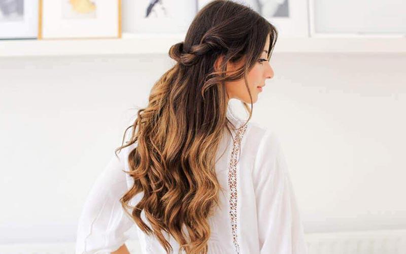 موهای باز بلند مناسب مهمانی