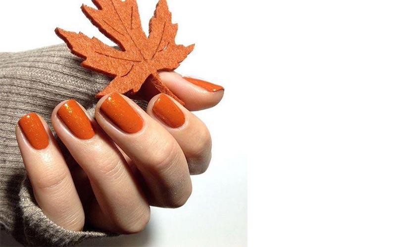طرح ناخن پاییزی ساده