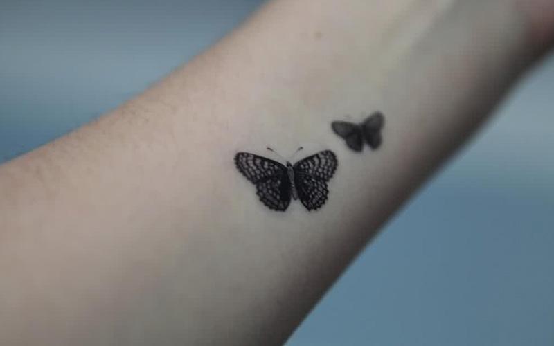 طرح تاتو پروانه کوچک