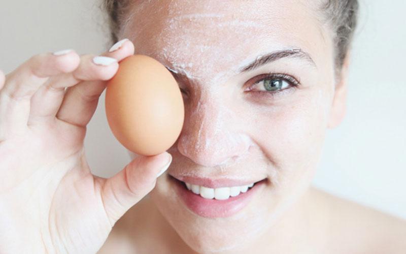 ماسک سفیده تخم مرغ و شکر
