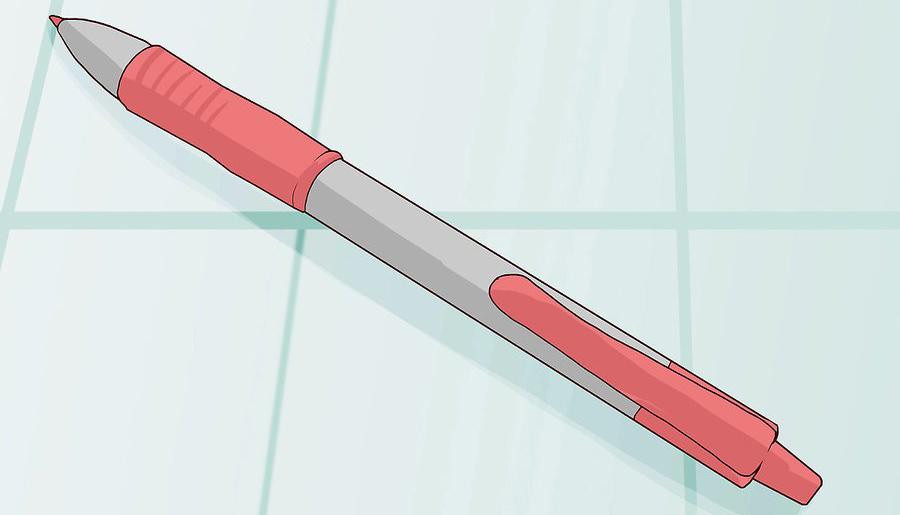 استفاده از خودکار قرمز برای ترسیم