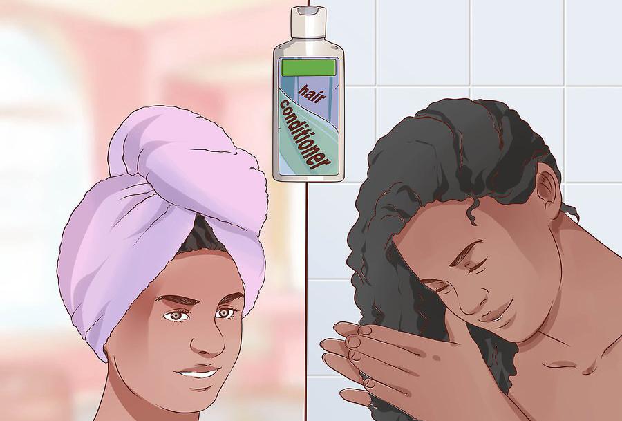 برای تجزیه چسب باقی مانده موهای خود را با حوله و نرم کننده بپوشانید