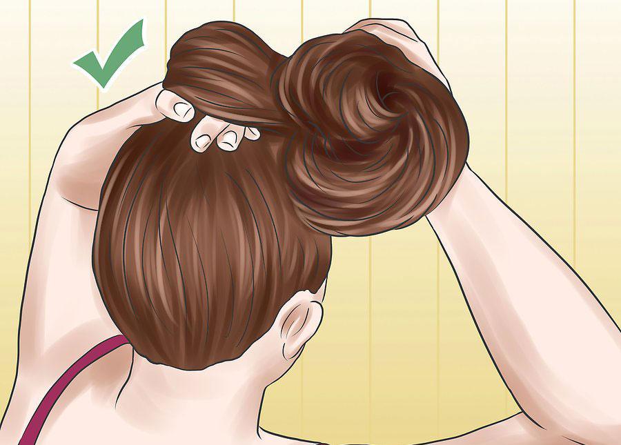جمع کردن موها در قسمت بالای سر