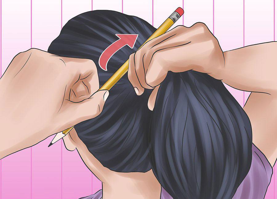 کشیدن مداد از طریق انتهای دم اسبی