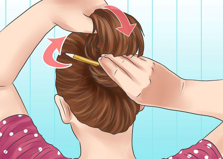 حلقه کردن موها با مداد