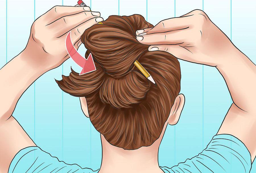 آموزش بستن مو با مداد